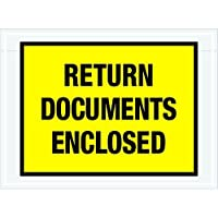 Tape Logic TLPL448 Return Documents Enclosed Envelopes 7 1/2 x 5 1/2 Yellow (Pack of 1000) [並行輸入品]