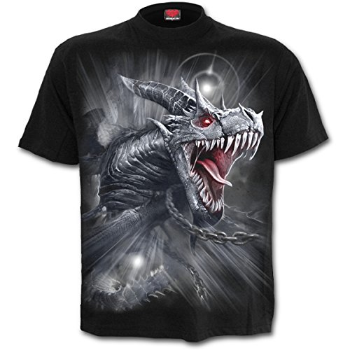 Spiral - DRAGON'S CRY - Männer Kurzärmeliges T-Shirt (XXL)