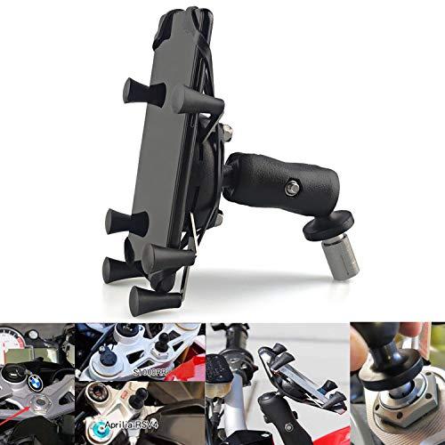 Motorrad Handyhalter GPS Halterung Ständer einstellbar für Smartphone am Motorrad mit Loch für Yamaha R1 R6 BMW Honda F5 CBR650F VFR1200