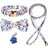 Dog Collar with Bow Tie, TUBELLUS Dog Collar and Dog...