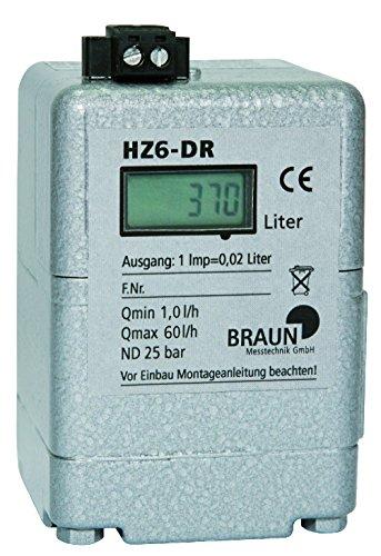 Braun Ölzahler HZ6-DR, DN 6 (1/8
