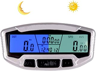 SASKATE - Velocímetro para bicicleta (pantalla digital, pantalla LCD, impermeable, inalámbrica, pantalla digital, velocímetro