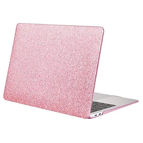 MOSISO Funda Dura Compatible con MacBook Air 13 Pulgadas 2020-2018 A2337 M1 A2179 A1932 con Pantalla Retina & Touch ID,Ultra Delgado Carcasa Rígida Protector de Plástico Cubierta,Brillante Oro Rosa