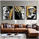Escultura de cabeza de David abstracta carteles de pared impresiones arte de pared pinturas en lienzo cuadros de pared para sala de estar decoración de Cuadros para el hogar
