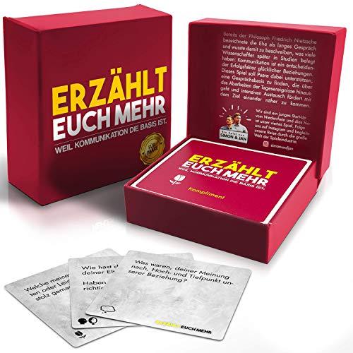Erzählt euch mehr (für Paare) Gesellschaftsspiel für 2 Personen- Spiel für mehr Achtsamkeit und Reflexion in eurer Beziehung - tolle Geschenkidee für Verliebte - Kartenspiel