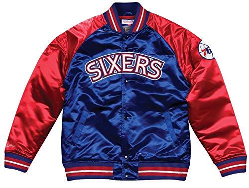 Mitchell & Ness Philadelphia 76ers NBA HWC Tough Season Satin Jacket Bomber College Jacke