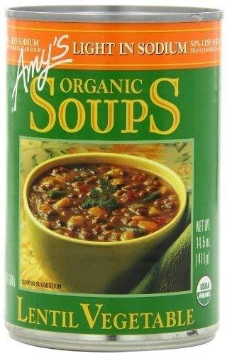 Amy's Organic Japan Maker New Lentil Vegetable Low Soup In stock P 14.5-Ounce Cans Salt