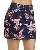 STYLEZONE Women's Actvie Skort Sport Skirt for Running Tennis Golf Workout Casual Skirts for Women Leaves M
