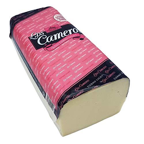 Queso de Vaca Tierno Light - Medio Queso en Barra Los Cameros - Peso Aproximado 1.6 kilogramos - Queso Light Elaborado con Leche Pasteurizada de Vaca - Queso Light con un gran sabor
