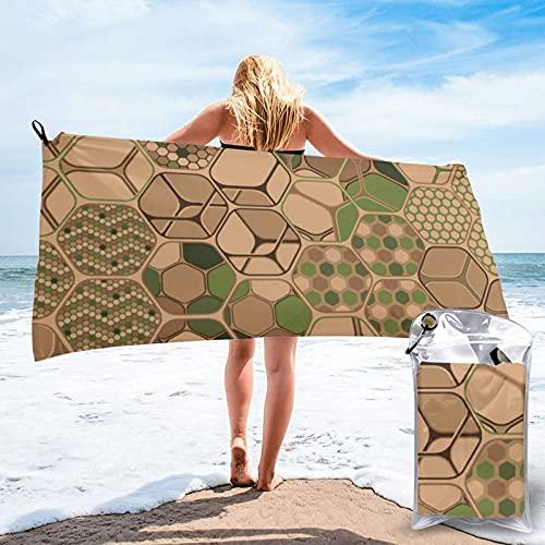 Dyfcnaiehrgrf Hexagons Trio Toalla de playa horizontal para hombres y mujeres, toalla de piscina, toalla de baño de gran tamaño, toallas de secado rápido para viajes, natación, camping (80 x 160 cm)