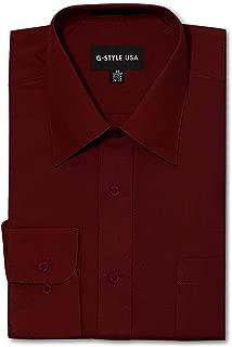 Men's Regular Fit Long Sleeve Solid Color Dress Shirts