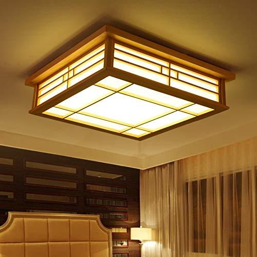 Orginal Wood LED Deckenleuchte Unterputz Japanische Deckenleuchte Kronleuchter Lampe Für Schlafzimmer Wohnzimmer Esszimmer Küche (Warm light)