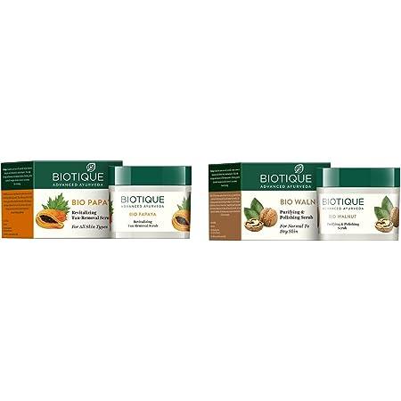 Biotique BIO PAPAYA Revitalizing Tan- Removal scrub 75gm/ 2.65 Fl.Oz. I For All Skin Type I Removing Dead Skin cells I Papaya Enriched Scrubber