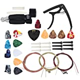 Afinador compacto Kit de herramientas para guitarra Kit de accesorios para guitarra Metal Plástico Ligero Profesional, para guitarras eléctricas, para ukeleles