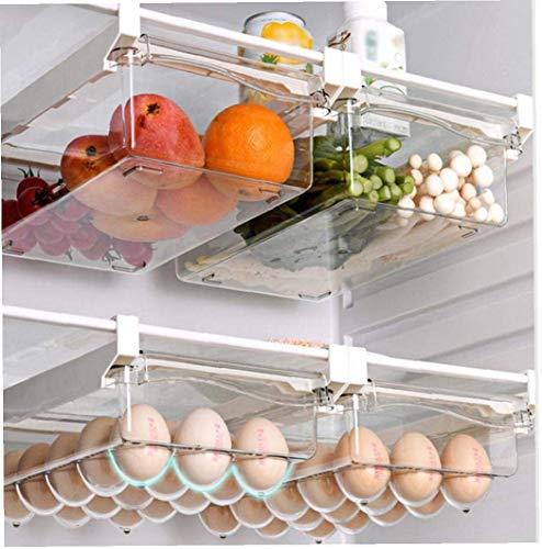 tJexePYK 3Pcs Kühlschrank Organizer löschen Ausziehbare Kühlschrank Schublade Organizer Ei-Aufbewahrungsbehälter frei ziehbar Kühlschrank Organizer Tidy Zubehör Zubehör