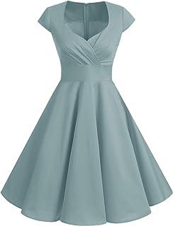 831a8103ec2e bbonlinedress Women's 50s 60s A Line Rockabilly Dress Cap Sleeve Floral  Vintage Swing Party Dress