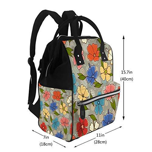 Travel Mom Backpack Flower Shop Gardening Logos Best for Diaper Bags Backpack