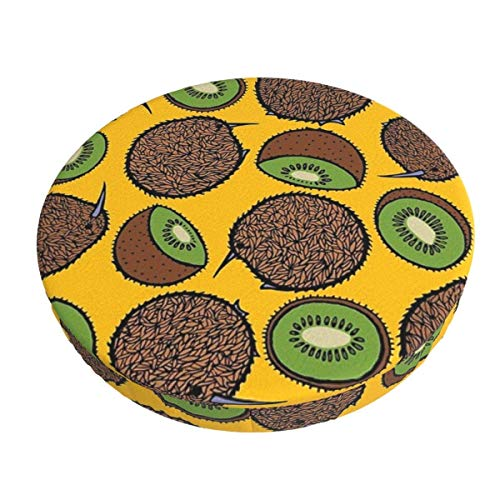 Round Bar Stools Cover,Kiwi Party,Stretch Chair Seat Bar Stool Cover Seat Cushion Slipcovers Chair Cushion Cover Round Lift Chair Stool