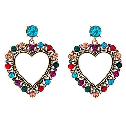 Ai.Moichien Pendientes Colgantes De Diamantes De Imitación Con Forma De Corazón Joyería De Fiesta De Moda Delicada Regalos De Cumpleaños