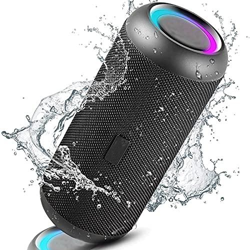 ZXCASD Altavoz portátil, Tecnología True Wireless, Altavoz inalámbrico Bluetooth con Efectos de Luces y Sonido a 360 Grados, hasta 12 Horas de reproducción,