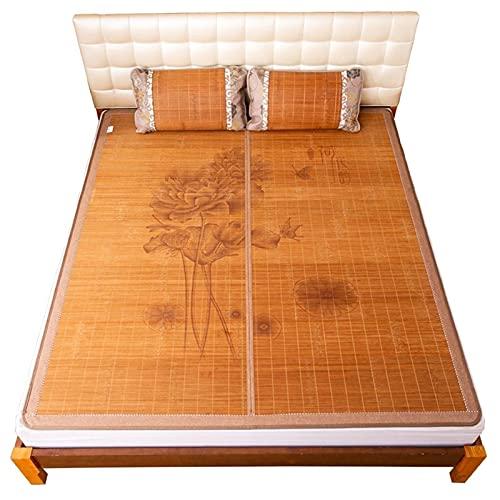 Estera de bambú Estera para Dormir de Verano Colchón de bambú Colchón Topper Pieza Bambú Mat Mat Mat Mat de Doble Cara Use el Dormitorio en casa refrigerante para el Verano