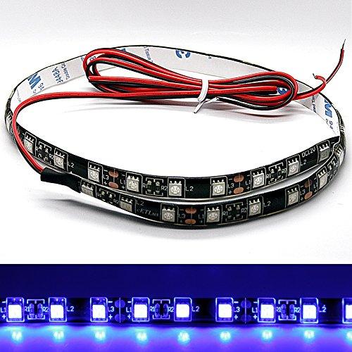 (14,98€/m) LED Stripe - blau 30 cm / 50 cm SMD selbstklebend 12V 3M Streifen Lichtstreifen Flexibel Lichtleiste Lichtband LED Leuchte(1x 50cm blau)