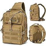 Greenpromise Military Tactical Assault Lot Sling Sac à Dos Armée Molle Sac à Dos étanche Sac pour Randonnée Camping Chasse 20L, Kaki