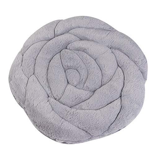 Peluche Simple Rose Lleush Cushion Silla de Estilo japonés Cojín Anti-Skid Bahía Cojín Cojín Cojín Silla Cojín Futón 45x45cm (Color : D)