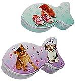 alles-meine.de GmbH Aufbewahrungsdose / Box mit Deckel -  Katze & Fisch  - aus Metall - Vorratsdose / Utensilo / Keksdose - oder auch für Katzenfutter / Tierfutter - Aufbewahru..