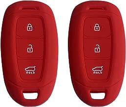 Royalfox 3 Buttons Soft TPU flip Folding keyless Remote Key Fob case Cover for Kia K5 K2 Sportage Rondo Soul Rio Optima//Magentis//Lotze Hyundai Elantra Verna i20 i30 i35 iX20 iX35 Keychain TM Pink