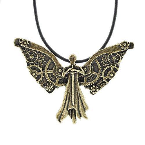 Tessa - Collar con ángel de trabajo de reloj, instrumentos mortales, ciudad de huesos, cazadores de sombras