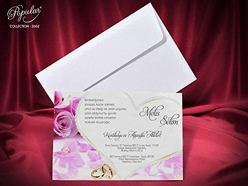Partecipazione matrimonio stampa inclusa 20 pezzi