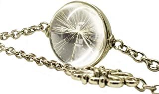 Real Dandelion Seed Bracelet Glass Make a Wish DIY Nature Seeds for Girls Women