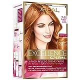 L'Oréal Paris Excellence Creme Coloration, 7.43 Kupfergoldblond, 1er Pack (1 x 1 Stück)