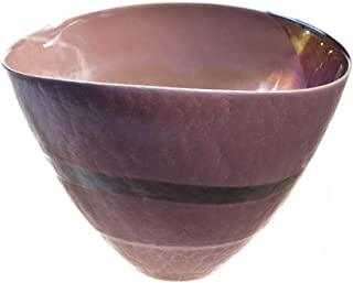YourMurano Murano Glass Vase, Purple, Shell Shape, Elegant, Luxury, Handmade, Blown Glass, Oval, Modern Design and Contemporary, 100% Trademark of Origin Guaranteed