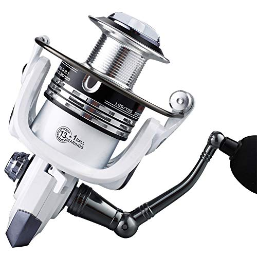 ZAGO Spinning Angelrolle Metallrolle Fischrolle Angelrolle Fischrad Seebrassenrad Weiß Für Eisfischen (Color : White, Size : 1000)