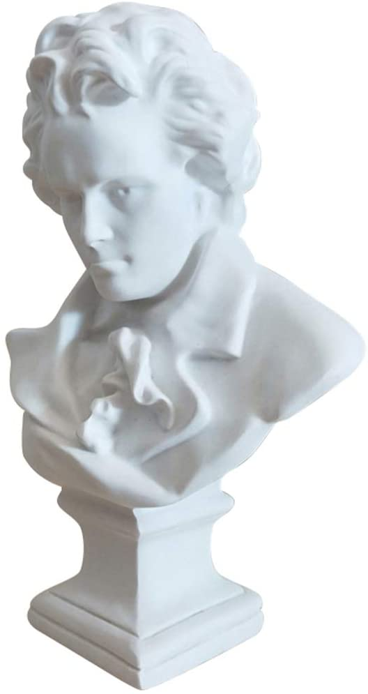 EXCEART Beethoven Bust Statue Classical Music Composer Bust Figu