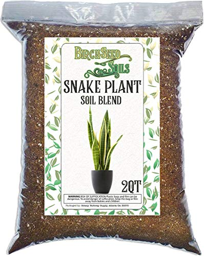Snake Plant Soil Mix, Specially Formulated for Sansevieria Trifascatia Zeylanica Plants, 2 Quarts
