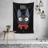 Andea Kiki's-Delivery-Service-Flying-Jiji Vertical Anime Tapestry Wall Tapestries Decoration for Bedroom Curtains Dormitory Door 60x51 Inch