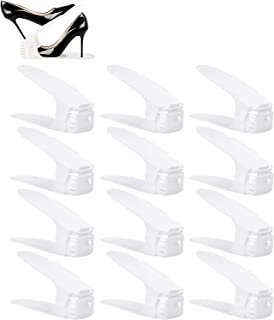 BIGLUFU Organizadores Ajustables de Zapatos con Ranuras Soportes de Calzado Apilador para Zapatos Ahorro de Espacio (Set d...