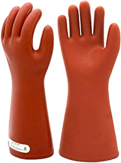 Electrical Insulated Rubber Gloves Electrician 12KV High Voltage Safety Protective Work Gloves Insulating for Lineman Man ...