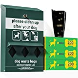 UPGORILO Dog Waste Station Bag Dispenser - Includes 600 Dog Poop Bags - Original Glow in the Dark Dog Poop Station Outdoor, Triple Storage Pet Waste Station with Lock and Rain Guard