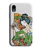 Sensu Uchiwa Pin Up Girl Japan E344 Coque pour Nokia 7 Motif femme japonaise avec ventilateur