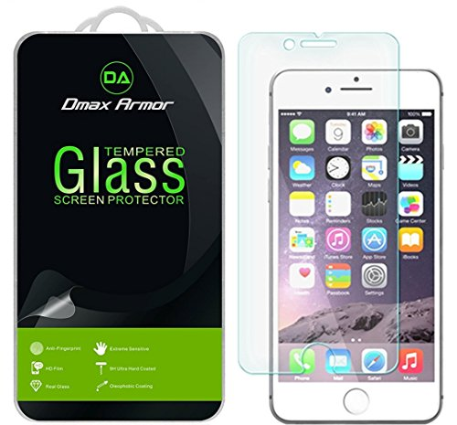 [2-Pack] Dmax Armor for Apple iPhone 8, iPhone 7, and iPhone SE (2020, 2nd Generation) Screen Protector, [Tempered Glass] 9H Hardness, Anti-Scratch, Anti-Fingerprint, Bubble Free, Ultra-Clear