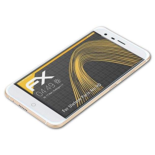 atFolix Panzerfolie kompatibel mit Ulefone Paris Arc HD Schutzfolie, entspiegelnde & stoßdämpfende FX Folie (3X)