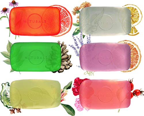 O Naturals Luxury Glycerin Variety Botanical 6 Pack Face Body Hands 100% Vegan Bar Soap Fabulous Sent Essential Oils Cleansing Moisturizing Natural Organic Ingredients Gift Pack Him & Her 4.2oz Each