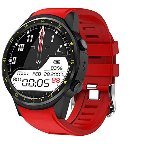 ZYD GPS Smart Watch Männer Mit SIM-Karten-Kamera F1 Smartwatches Herzfrequenz-Erkennung Sport Telefon Angeschlossen Uhr Android Ios Clock,B