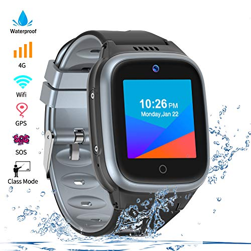 Vowor 4G Smartwatch for Kids with Sim Card, Waterproof Phone Watch with WiFi LBS GPS Tracker Video...