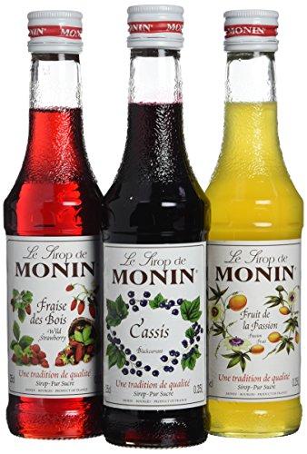 MONIN - Coffret pour Cocktails à base de Vin - Cassis, Passion et Fraise des Bois - 3x25cl