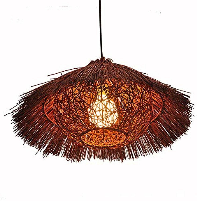 Duddaax Creative Modern Hngelampe,Rattan Strohhut Kronleuchter Pendelleuchte,Einzigartiger Künstlerischer Effekt,M